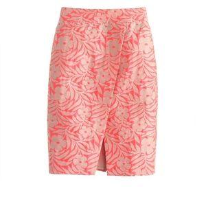 J. Crew Pink Floral Pencil Skirt